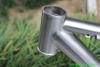 xacd made titanium MTB tandem bike frame with big fat wheel