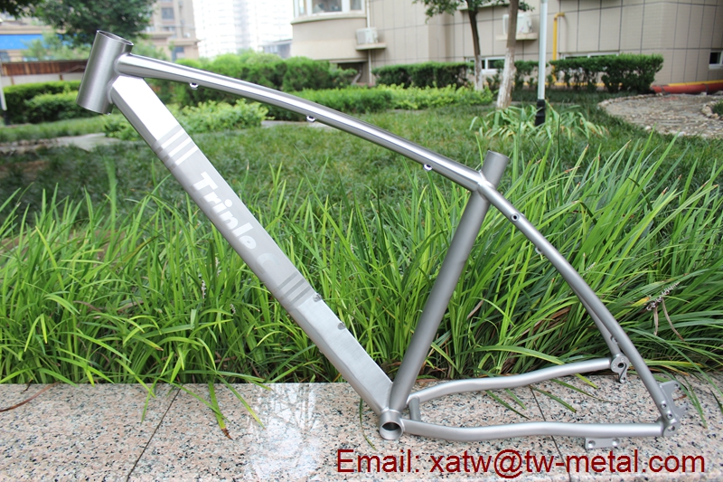 XACD made Titanium mountain bike frame inner line routing design
