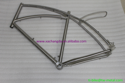 Titanium track bike frame with a flying rear rack