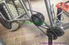 titanium fat bike frame with 44mm head tube and gearbox thru axle dropouts