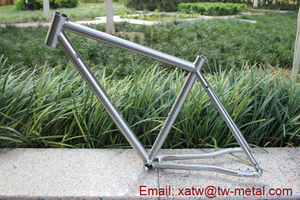 titanium gravel bike frame with inner line routing