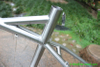 Titanium MTB bike frame with M800 BAFANG motor bridge