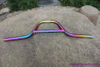 titanium BMX bar in colorful surface