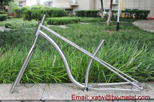 titanium mountain bike frame 44mm head tube